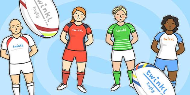 Rugby Kit Cut Outs - rugby kit, cut outs, cut, outs, rugby, kit