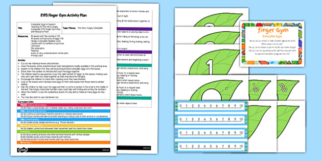 Caterpillar Eggs EYFS Finger Gym Plan and Resource Pack To Support Teaching On The Very Hungry Caterpillar - bugs, minibeast, insect, butterfly, Eric Carle