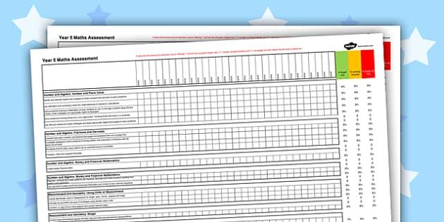 Australian Curriculum Year 5 Maths Assessment Spreadsheet - australia