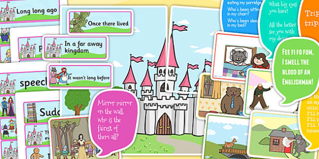 Traditional Tales Vocabulary Display Pack - trad tales, vocab