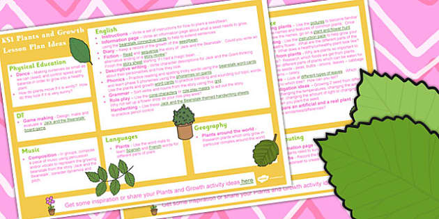 Plants and Growth KS1 Lesson Plan Ideas - lesson plan, ideas, ks1