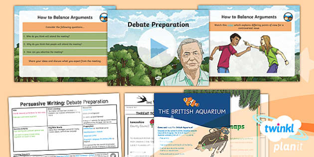 PlanIt Y6 Living Things and Their Habitats: David Attenborough Lesson Pack Persuasive Writing (5) - Living Things and Their Habitats: David Attenborough, persuasive, david attenborough, writing, debat