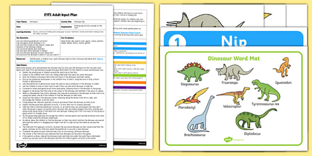 EYFS Dinosaur Dig Adult Input Plan and Resource Pack