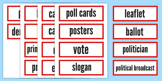 Election Vocabulary Cards - election, vocabulary, cards, vocab
