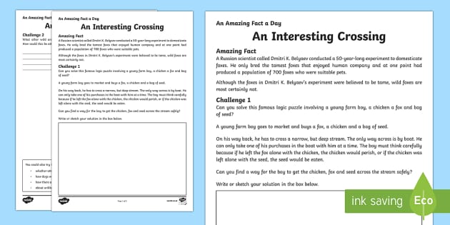 An Interesting Crossing Activity Sheet - Amazing Fact Of The Day, activity sheets, powerpoint, starter, morning activity, December, puzzle, m