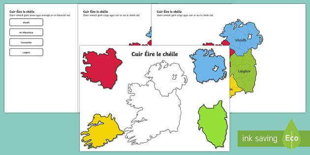 Cuir Éire le Chéile: Na Cúigí Activity Sheets