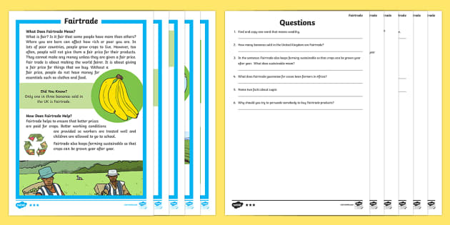 Fairtrade Fortnight Organised Events Primary Resources - Fairtrade
