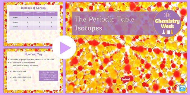 Isotopes Lesson for Chemistry Week PowerPoint