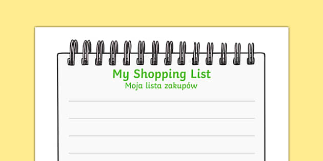Farm Shop Shopping List Polish Translation - polish, Farm Shop Role Play, Role Play Shopping Lists - Shopping list, Shopping, Role Play, Money, Shop, Till, Purchase, topic, activity, buying, farm shop resources, farm, milk, cheese, eggs, till, animal