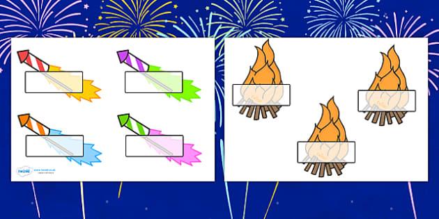 Firework Self Registration - bonfire night, bonfire, Guy Fawkes, bonfire, Self registration, register, editable, labels, registration, child name label, printable labels, Houses of Parliament, plot, treason, fireworks, Catholic, Protestant, James I,