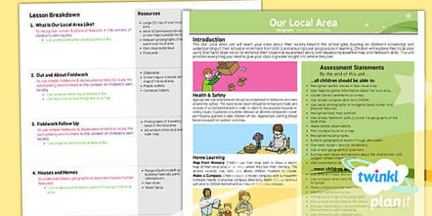 PlanIt - Geography KS1 - Our Local Area Planning Overview - planit