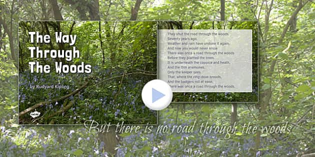 The Way Through the Woods by Rudyard Kipling Poem PowerPoint