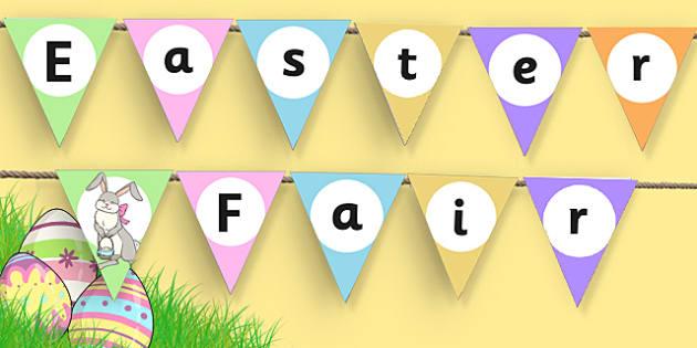 Easter Fair Bunting - easter fair, easter fayre, fair, fayre, easter, bunting