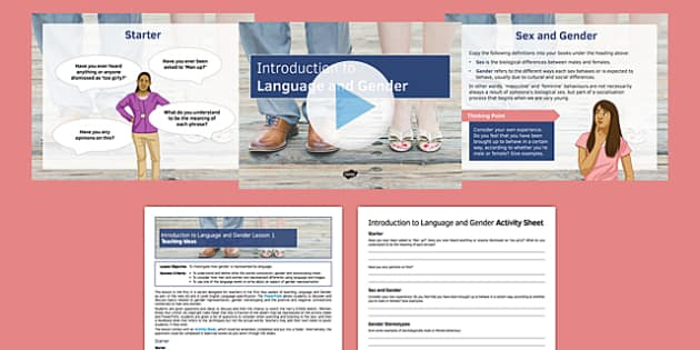Introduction to Language and Gender Lesson 1 Lesson Pack