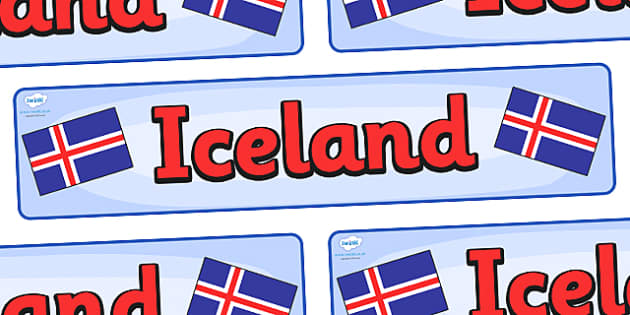 Iceland Display Banner - Iceland, Olympics, Olympic Games, sports, Olympic, London, 2012, display, banner, sign, poster, activity, Olympic torch, flag, countries, medal, Olympic Rings, mascots, flame, compete, events, tennis, athlete, swimming