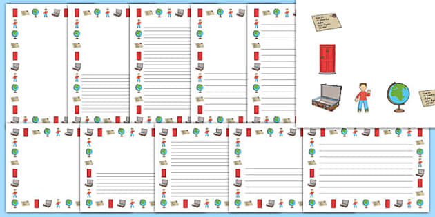Flat Boy Page Borders Pack - flat stanley, flat boy, jeff brown, page borders