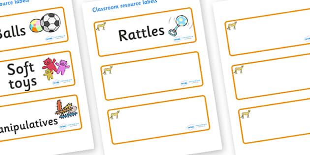 Cheetah Themed Editable Additional Resource Labels - Themed Label template, Resource Label, Name Labels, Editable Labels, Drawer Labels, KS1 Labels, Foundation Labels, Foundation Stage Labels, Teaching Labels, Resource Labels, Tray Labels, Printable