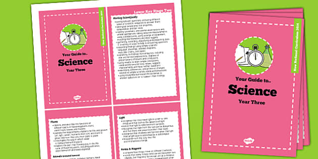 2014 Curriculum Cards Year 3 Science - new curriculum, planning