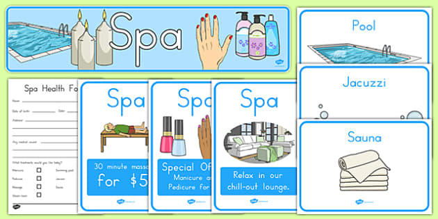 Spa Role Play Pack - usa, america, spa, role play, the spa, health and wellbeing, pack