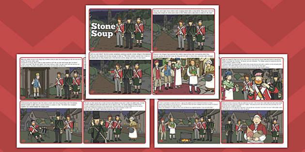 Stone Soup Story Cards - stone soup, story cards, story, cards