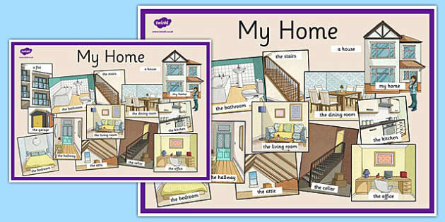 My Home Display Poster English - my home, display poster, english, display, poster, keywords