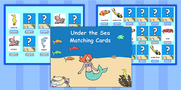 Under the Sea Matching Cards Activity Flipchart - stories, match