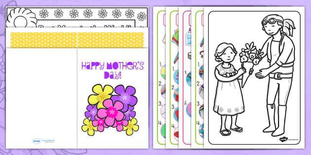 Childminder Mothers Day Resource Pack - childminder, mothers, day