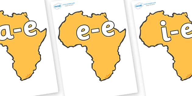 Modifying E Letters on Africa - Modifying E, letters, modify, Phase 5, Phase five, alternative spellings for phonemes, DfES letters and Sounds