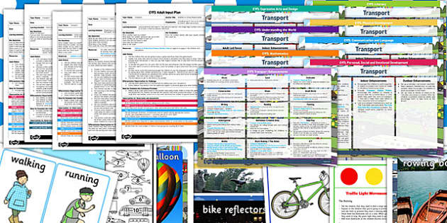 EYFS Transport Themed Bumper Planning Pack - transport, pack
