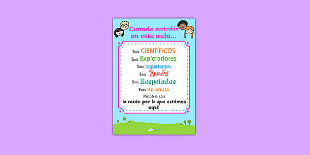 Cuando entráis en esta aula When You Enter This Class Poster Spanish - spanish, when you enter this class, poster, display poster, poster for display, classroom display, classroom poster, theme poster