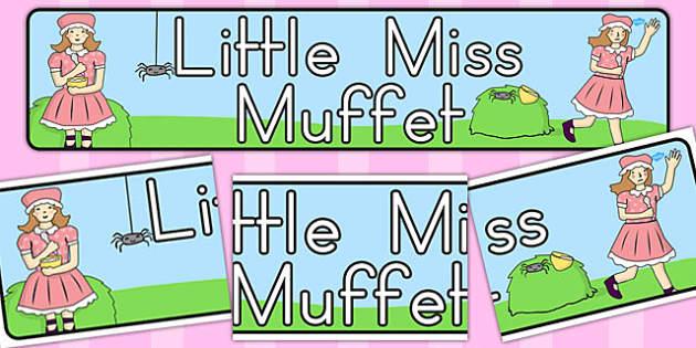 Little Miss Muffet Display Banner - australia, Little Miss Muffet