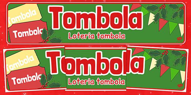 Christmas Themed Tombola Banner Polish Translation - polish, christmas, tombola, banner, display