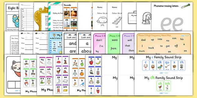 Parents Phonics Pack - parents, phonics, pack, sounds, phase