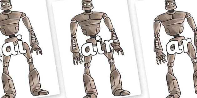 Phase 3 Phonemes on The Iron Man - Phonemes, phoneme, Phase 3, Phase three, Foundation, Literacy, Letters and Sounds, DfES, display