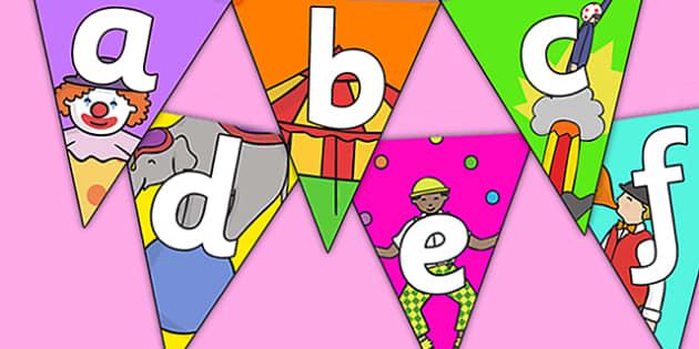 Circus Themed Alphabet Bunting - circus themed, alphabet bunting, A-Z- bunting, circus A-Z bunting, circus alphabet bunting, circus bunting, alphabet buntin