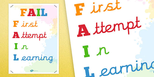 FAIL Motivational Poster - motivate, posters, displays, display