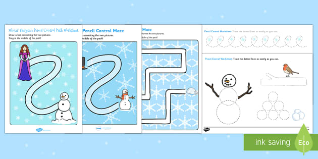 Winter Themed  Pencil Control Activity Pack
