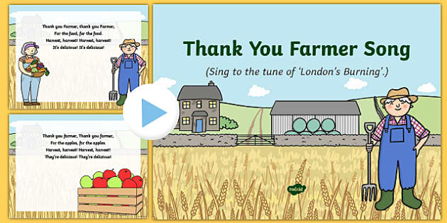 Thank You Farmer Song PowerPoint