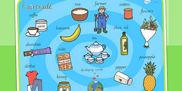 Fairtrade Word Mat - fair trade, food, keywords, visual aid