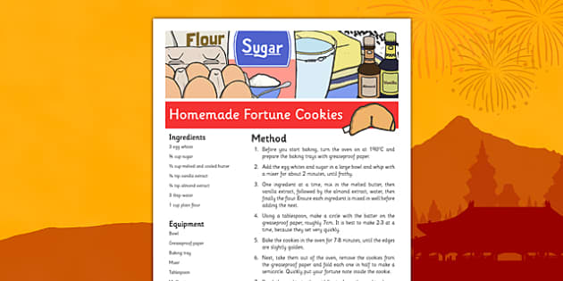 Homemade Fortune Cookies Recipe - homemade, fortune cookies, recipe, fortune, cookies