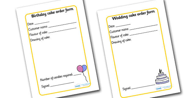 Bakery Order Forms - Bakery Role Play Pack, order form, baker, oven, bread, great fire of london, buns, customer, role play, display, poster
