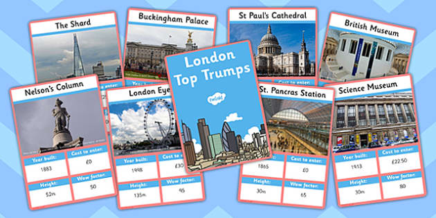 London Card Game - london, top trumps, card game, card, game