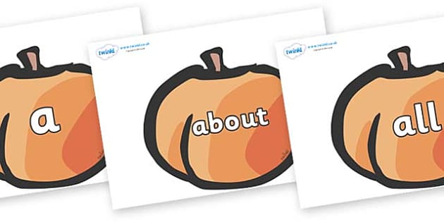 100 High Frequency Words on Peaches - High frequency words, hfw, DfES Letters and Sounds, Letters and Sounds, display words