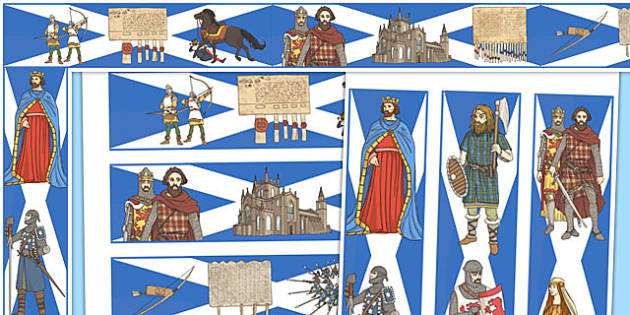 The Scottish Wars of Independence Display Borders - scottish