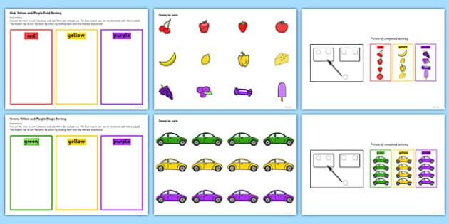 Colour Sorting Activity Set 4 - colour, sorting, activity, set, 4
