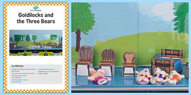 Goldilocks and the Three Bears Story Telling Shelf Card - story