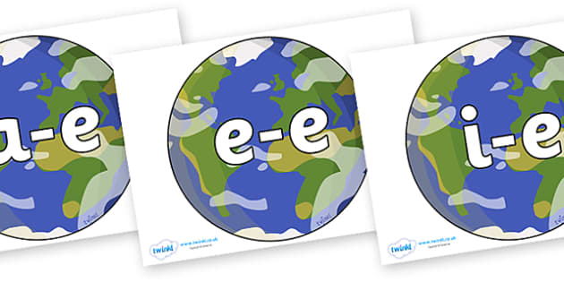 Modifying E Letters on Planet Earth - Modifying E, letters, modify, Phase 5, Phase five, alternative spellings for phonemes, DfES letters and Sounds