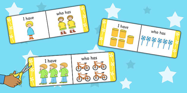 I Have, Who Has Counting Activity to Support Teaching on Titch - numeracy, count, maths