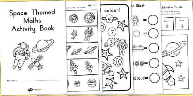 Space Themed KS1 Maths Activity Book - australia, ks1, maths