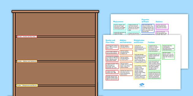 2014 Curriculum Year 3 Maths Assessment Target Colouring Bookshelf
